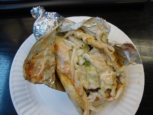 Newyorkstreetfood february 2 2010 today s lunch chicken gyro from