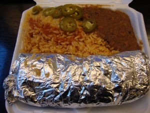 burrito platter