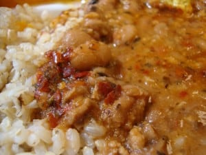 rice & chili closeup