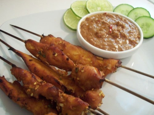 chicken satay (picture not from recipe)