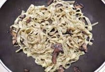 Tagliatelle Pasta with Cremini Mushrooms
